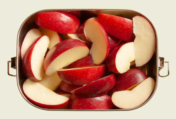 Edelstahl Bento Box mit Äpfeln