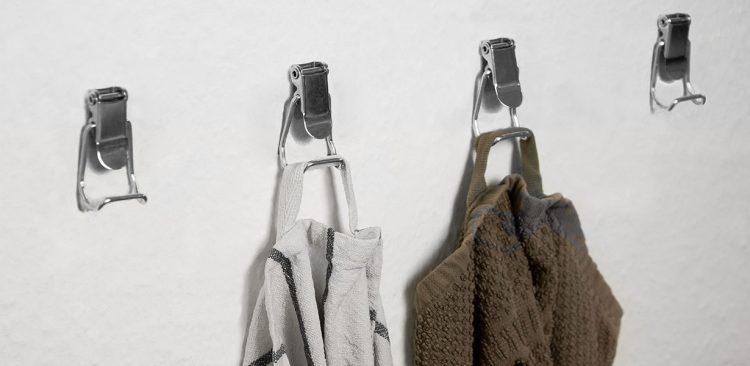 Schnallen von Edelstahl Brotdose werden zu Handtuch-Haken