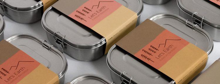 In Deutschland hergestellte Edelstahl Brotdosen
