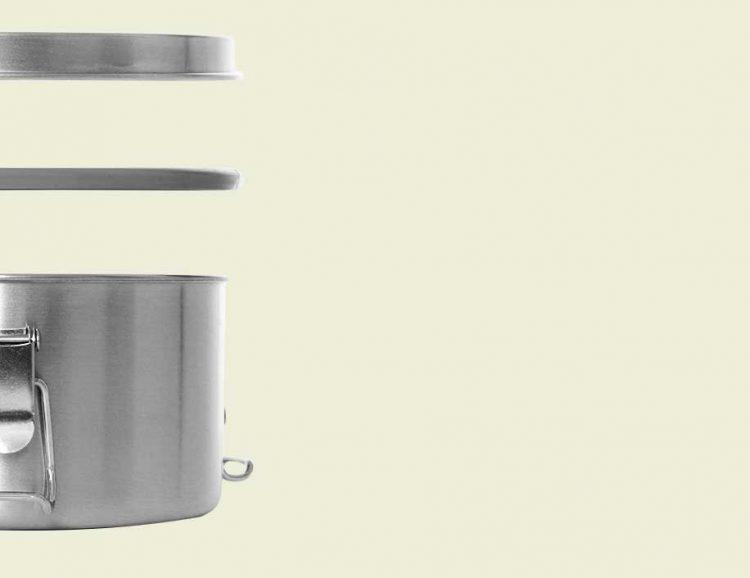 Lunchbox aus Edelstahl (Größe: L) Explosionszeichnung