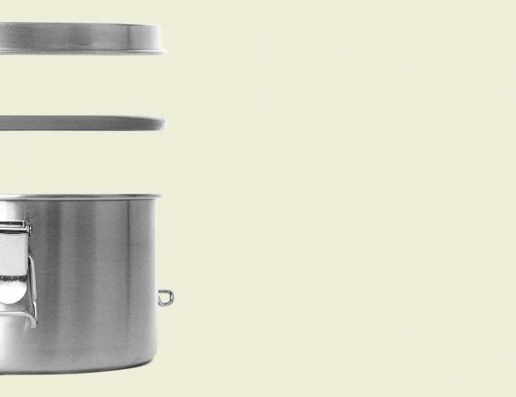 Lunchbox aus Edelstahl (Größe: XL) Explosionszeichnung