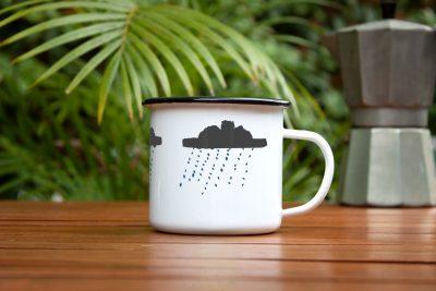 Tasse - Regenwolken
