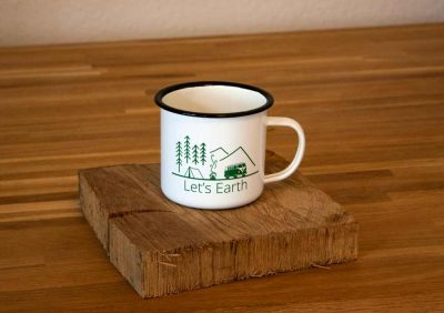 Emaille Tasse Camping
