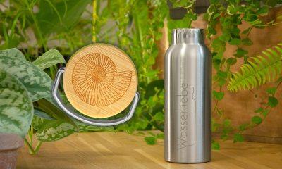 Edelstahl Trinkflasche 500 ml mit Motiv von Ammonite
