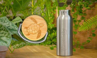 Edelstahl Trinkflasche 500 ml mit Motiv von Schildkröte