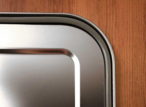 Detail vom Edelstahldeckel mit der Silikondichtung