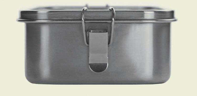 Edelstahl Lunchbox Klippverschluss