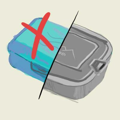 Infografik Edelstahldose - BPA-frei