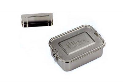 Edelstahl Lunchbox von Lets Earth mit einer Trennwand