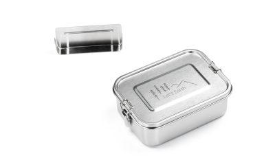 Auslaufsichere Edelstahl Lunchbox mit Trennwand