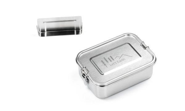 Lunchbox Edelstahl auslaufsicher mit Trennwand