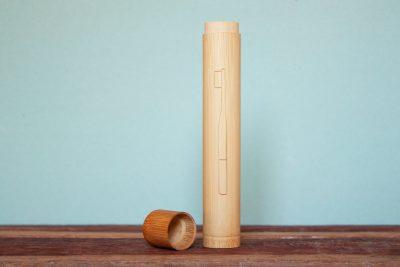 Nachhaltiges Bambus Zahnbürsten Etui