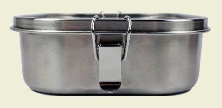 Edelstahl Bento Box Klippverschluss